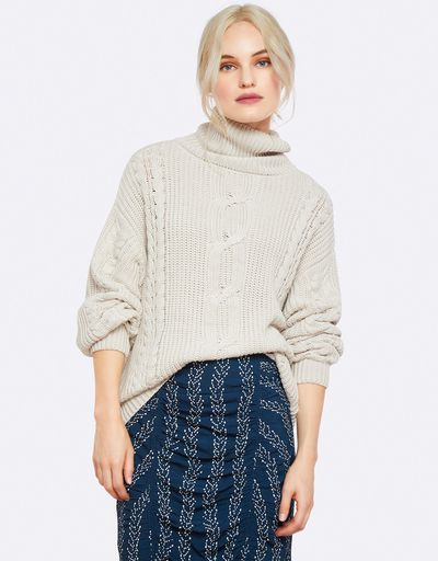 """<a href=""""https://www.theiconic.com.au/olivia-chunky-cable-knit-645470.html"""" target=""""_blank"""" draggable=""""false"""">Oxford Olivia Chunky Cable Knit in Limewash, $169</a>"""