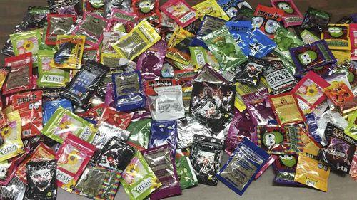Packets of synthetic marijuana.