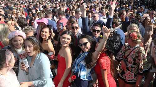 The punters packed out Flemington from 8.30am.