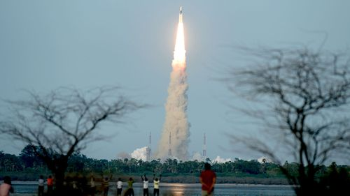 India launches its most powerful rocket to date. (AFP)