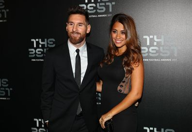 Lionel Messi and wife Antonela Roccuzzo at the Best Fifa Football awards 2017.