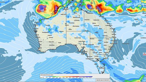 Tasmania will get some rainfall