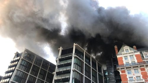 At least 100 firefighters have been called to the fire at a hotel in London.