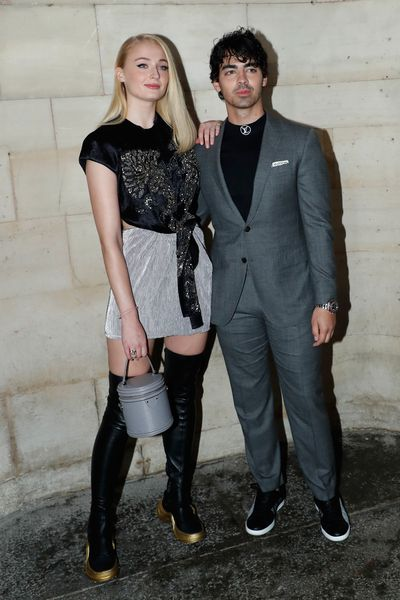 Sophie Turner and Joe Jonas attend the Louis Vuitton show as part of the Paris Fashion Week