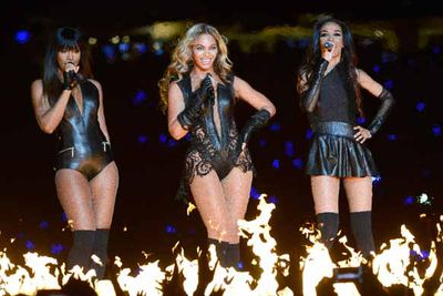 It was the best halftime moment since Justin Timberlake accidentally (ahem) showed the world Janet Jackson's nipple in 2004, Beyonce and her Destiny's Child girls working it at the Superbowl. One word: Fierce!