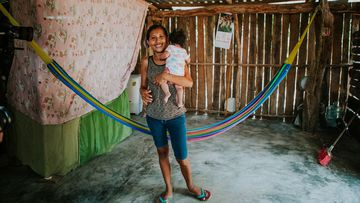 The families are living in makeshift homes, many of which they built themselves.
