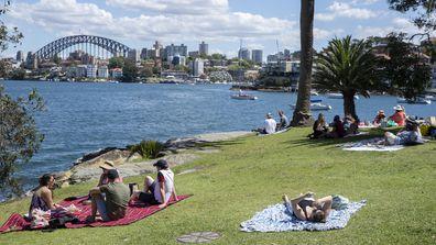 Picnics at Cremorne Point, Sydney.