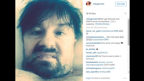 Ricky Gervais kicks off Golden Globes campaign with