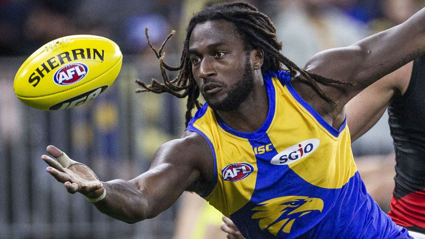 Nic Naitanui aims for round 10 AFL return after missing flag with knee injury