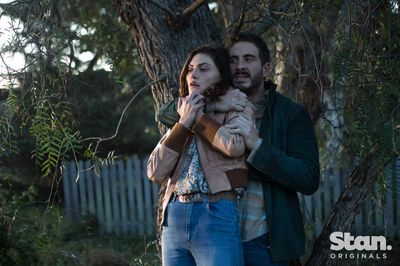 Phoebe Tonkin as Young Gwen and Ryan Corr as Sam