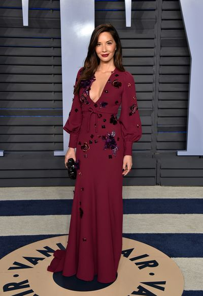 Olivia Munn in Andrew Gn at the 2018 Vanity Fair Oscars After Party
