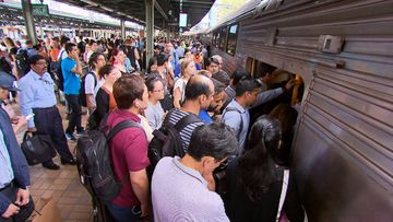 New figures have revealed more than half of Sydney train lines are unable to fit any more passengers during the busiest time of the morning between 8am and 9am.