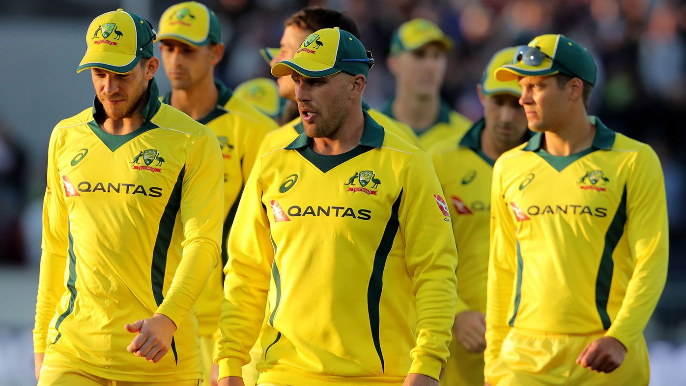 Australian cricketers after the 4th ODI against England in Durham