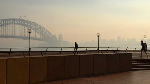 Hazard reduction burns to continue for second day after Sydney enveloped by smoke haze