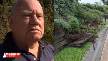 Elderly man fired up over nightmare retaining wall battle with council