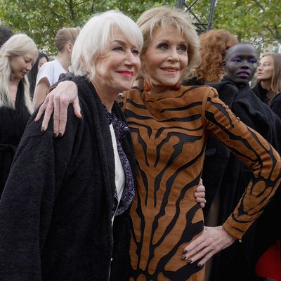 <p>Closing down the Champs-Élysées in Paris is almost unheard of, but global beauty brand L'Oréal managed to do just that for their Le Défilé catwalk show.</p> <p>The most talked-about event of Paris Fashion Week saw models of all types and ages take to the catwalk in honour of the beauty brand. Beauty director Val Garland created 70 different make-up looks for the show, which featured designs from 18 established and emerging fashion houses.</p> And the reason the show became an instant hit on social media was down to the variety of models walking. From screen goddesses Dame Helen and Jane Fonda to Instagram's biggest stars, click through to see why everyone is talking about L'Oreal...