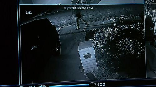 CCTV footage captured the alleged offender lurking outside the Spearwood house in the lead up to Coco's death.