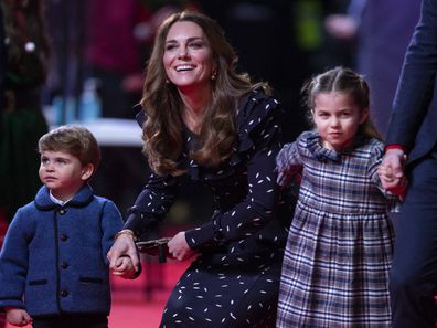 Kate, Louis and Charlotte attend a special pantomime performance at London's Palladium Theatre, hosted by The National Lottery.