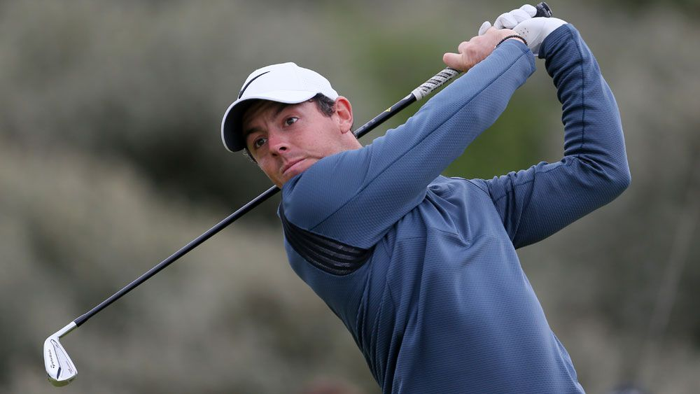 Rory McIlroy was enjoying a great second round at Royal Birkdale. (AAP)