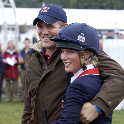 Zara and Mike Tindall at the The Blenheim Petplan European Eventing Championships, 2005