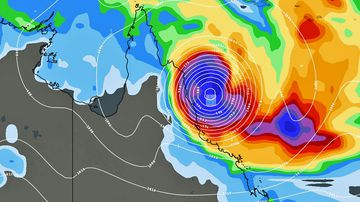 Australia weather forecast Far North Queensland cyclone system Cairns map