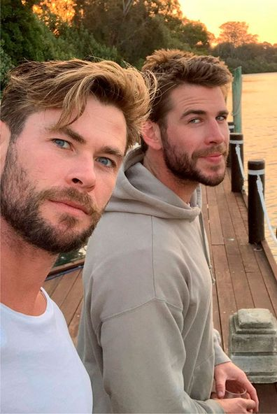 Chris Hemsworth, Liam Hemsworth, selfie, Instagram