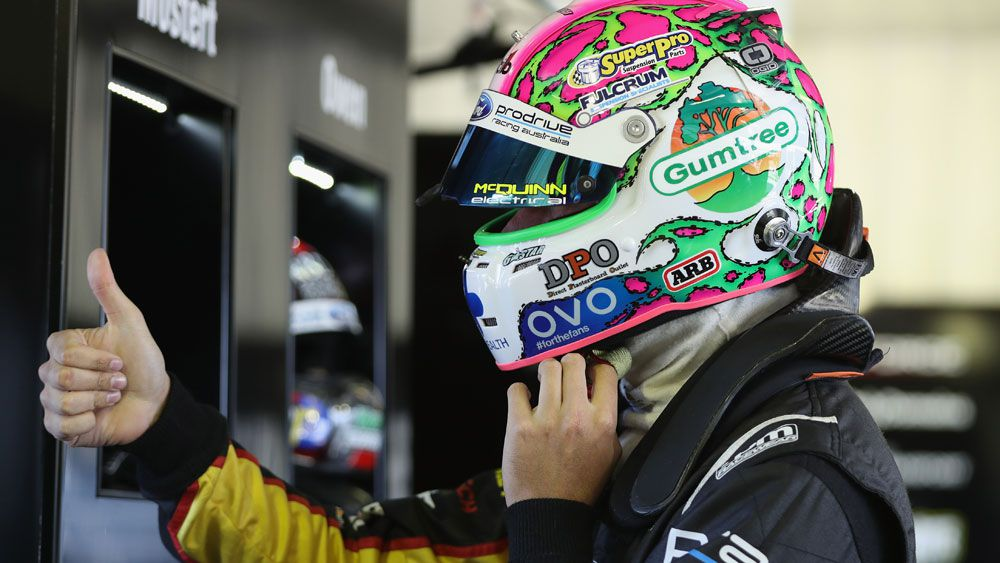 Chaz Mostert has gone quickest in the second stage of qualifying for the Sandown 500. (Getty)