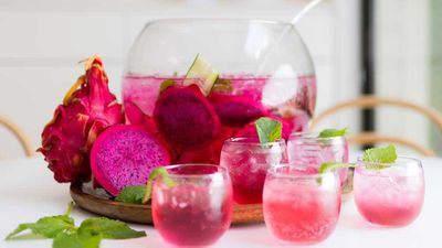 "Recipe: <a href=""http://kitchen.nine.com.au/2018/02/12/10/35/dragonfruit-punch-cocktail-recipe"" target=""_top"">Dragon fruit punch</a>"