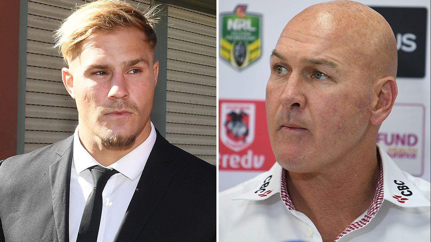 NRL: Dragons could play Jack de Belin next week against Manly