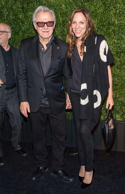 Actor Harvey Keitel and actress Daphna Kastner