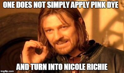 One does not become Nicole Richie