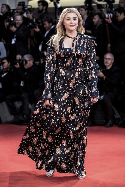 Chloe Grace Moretz inLouis Vuitton at the 2018 Venice Film Festival