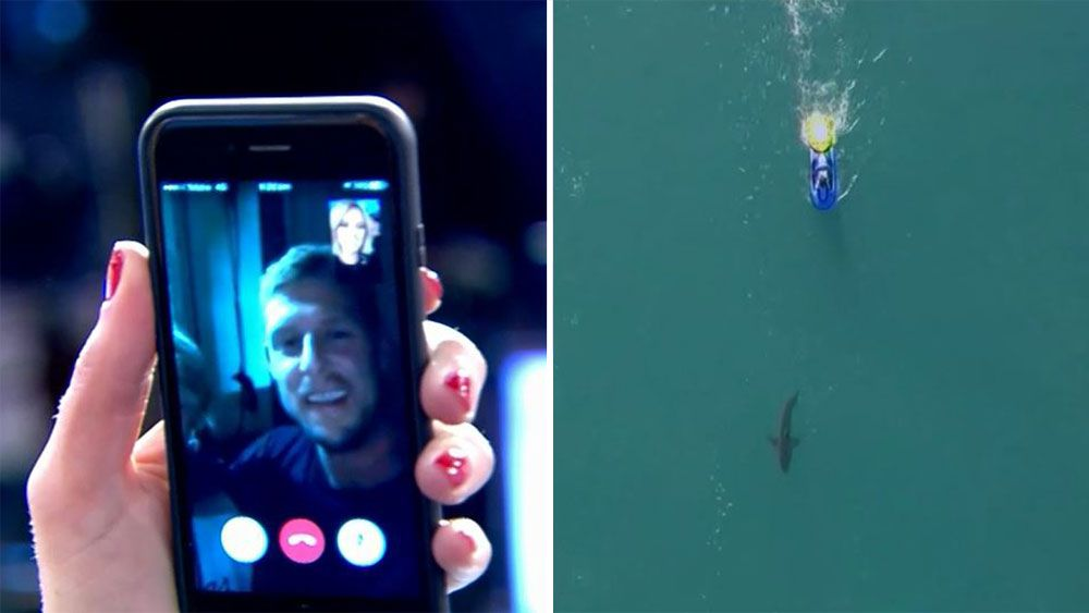 Australian surfer Mick Fanning tells Today he's OK after shark scare at J-Bay in South Africa
