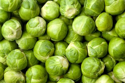 Brussels sprouts: 1.74g sugar per 100g
