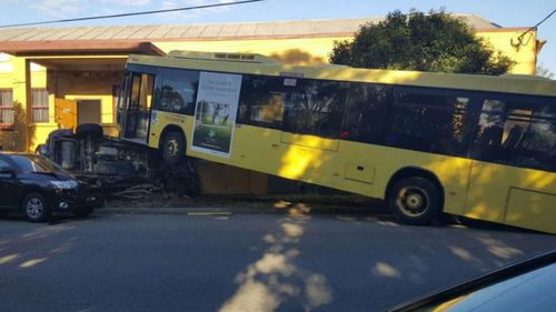 Bus crashes into five cars in Sydney's west