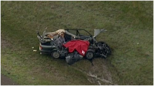 Driver dies after car collides with truck in rural Victoria