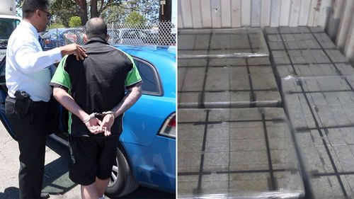 Police have seized 21kg of cocaine hidden in tiles shipped from Spain. (NSW Police)