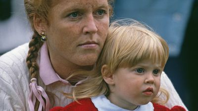 Princess Beatrice with Sarah Ferguson at the Royal Windsor Horse Show, May 1990
