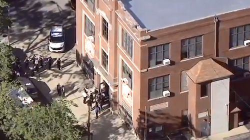 View outside school where three students were shot. (ABC News)