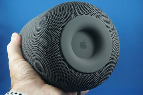 The Apple HomePod is a speaker with a smart assistant built in.
