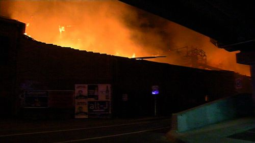 The fire started just after midnight. (9NEWS)