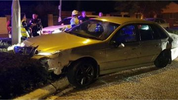 A man has been charged after allegedly leading police on a pursuit and crashing into a police car, causing it to ignite.