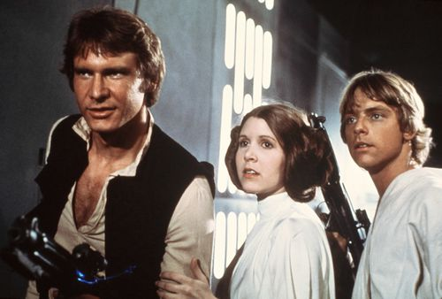 Fisher and Hamill became household names alongside Harrison Ford thanks to Star Wars. (AAP)
