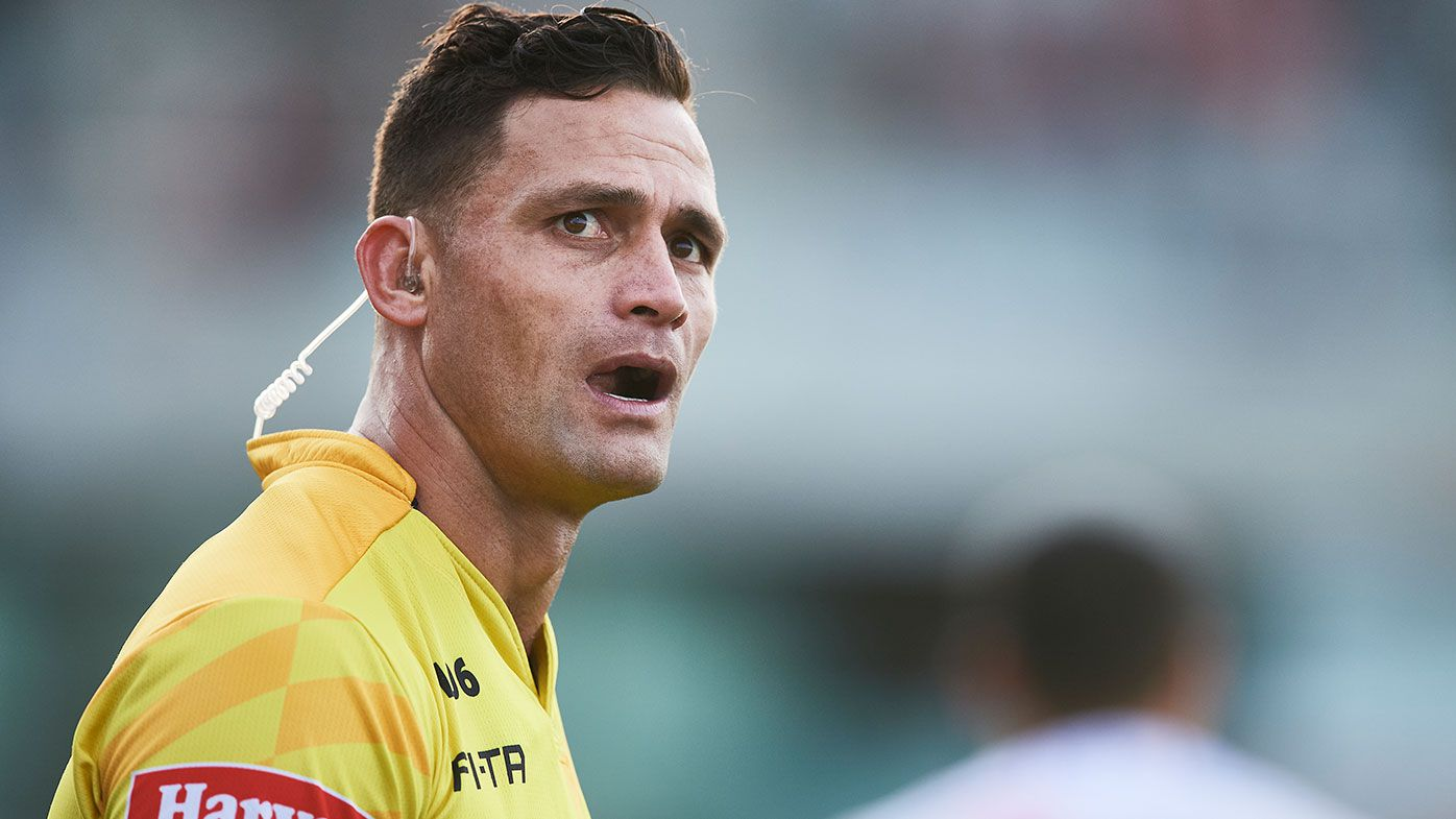 NRL bunker official Henry Perenara to remain stood down following Latrell Mitchell-Joey Manu incident