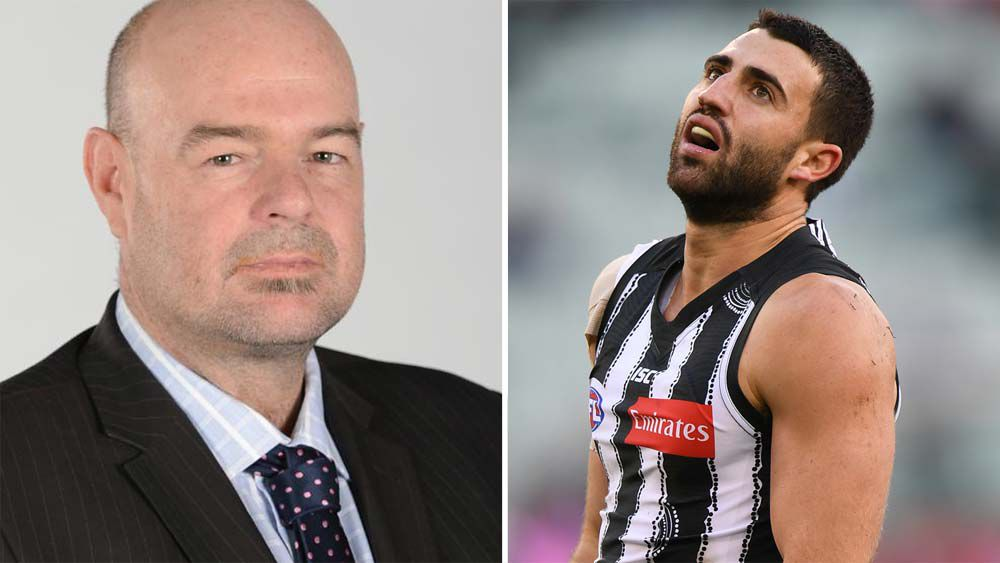 Collingwood lash out at columnist Mark Robinson over insensitive Alex Fasolo tweet