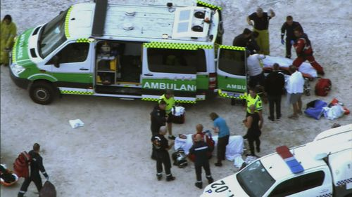 Three people, including an 11-year-old boy, were injured when the jetty collapsed.