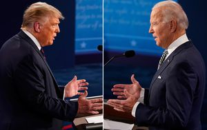 Trump v Biden debate: The words US voters looked up after fiery first election clash