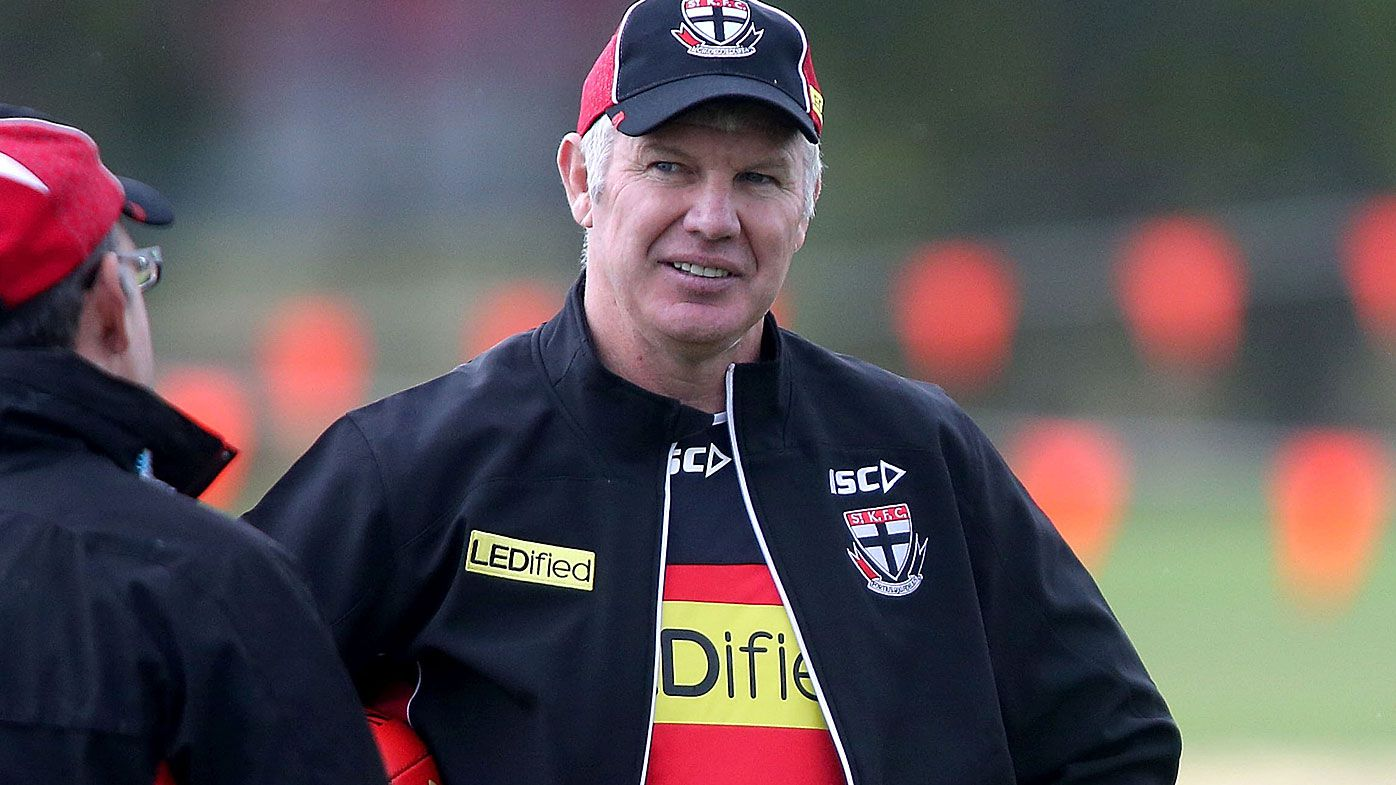 Danny Frawley at St Kilda training
