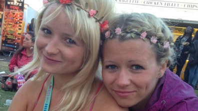 Laura Daniels (right) with her sister Hannah Witheridge.