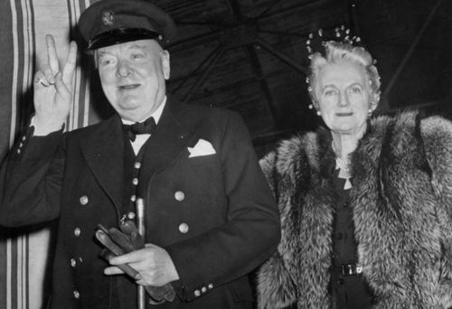 British statesman Winston Churchill and his wife Clementine. (Photo: Getty).